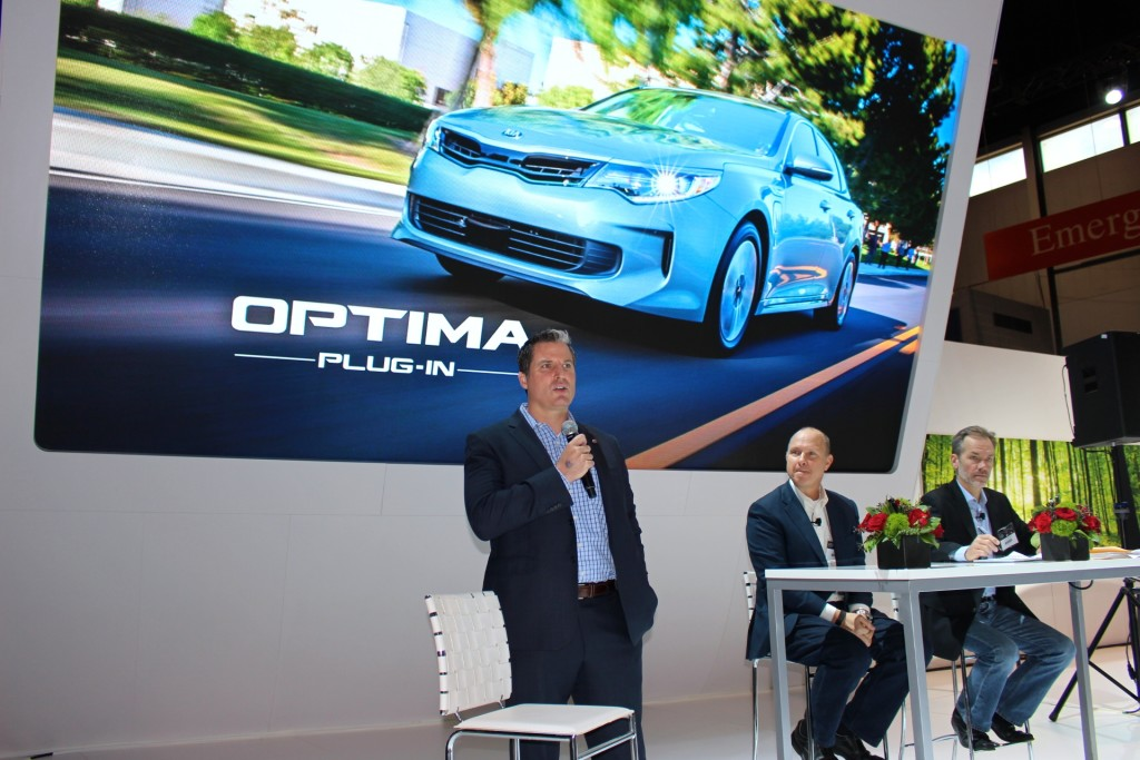 Kia Optima at the Chicago Auto Show