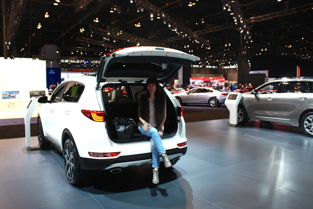 Kia sportage at the Chicago Auto Show