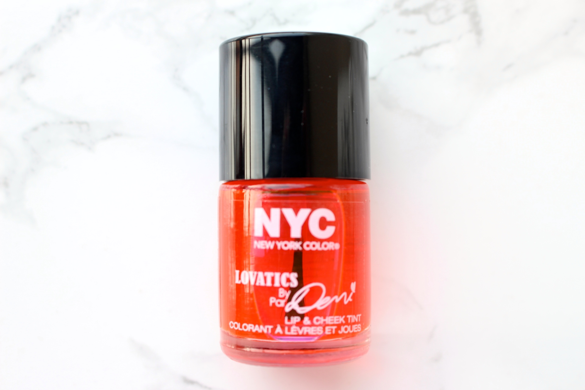 NYC Lovatics by Demi lip and check stain