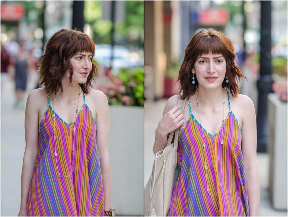 Colorful Dress Rented from Le Tote