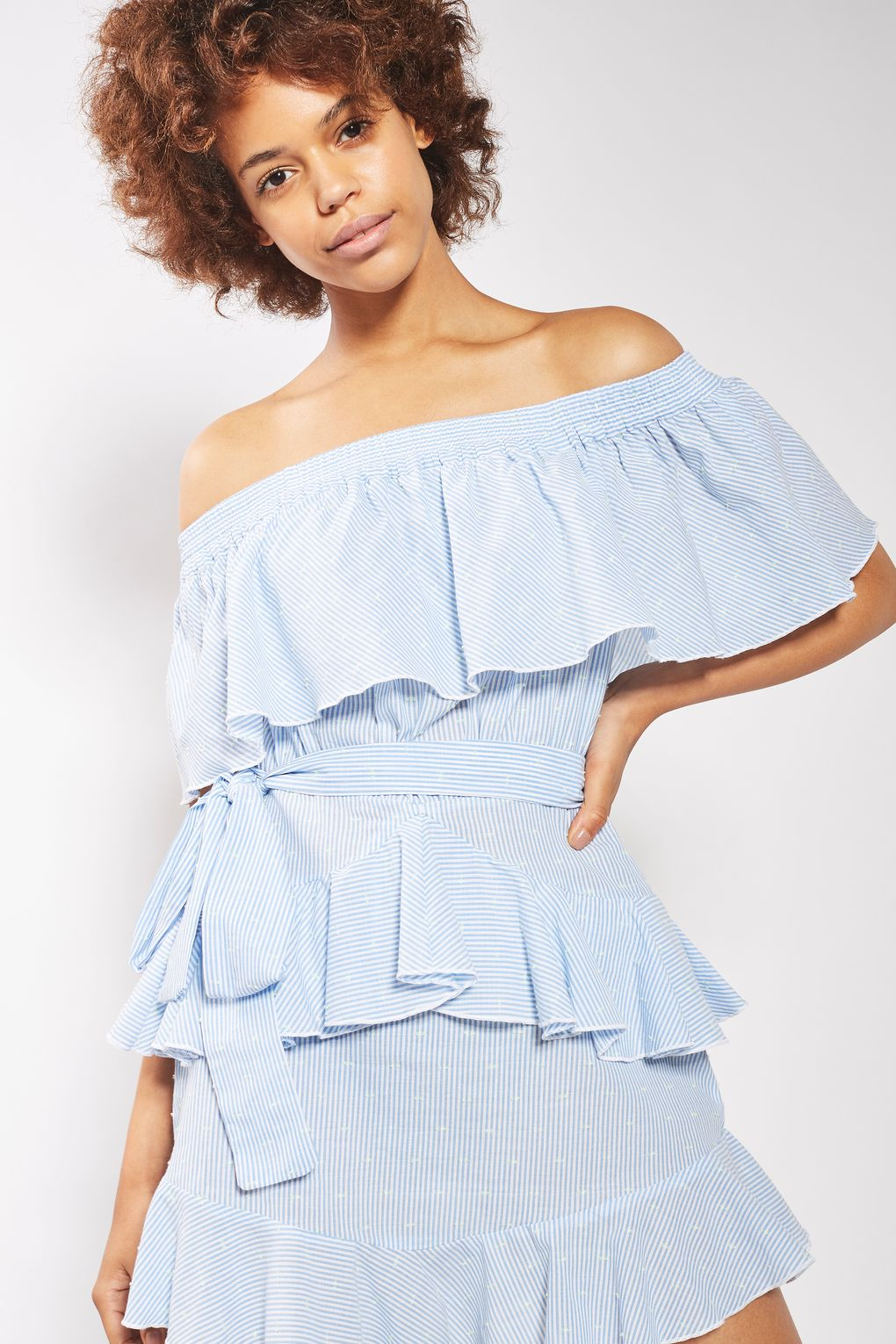 topshop ruffled dress